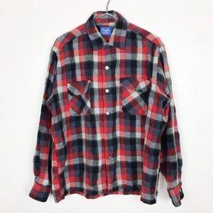 Vintage Men's Wool Button Up Shirt Large